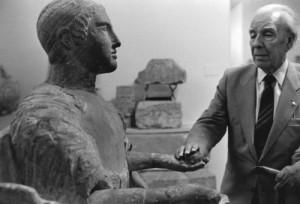 Jorge Luis BORGES, Galleria Nazionale, Palermo, 1984