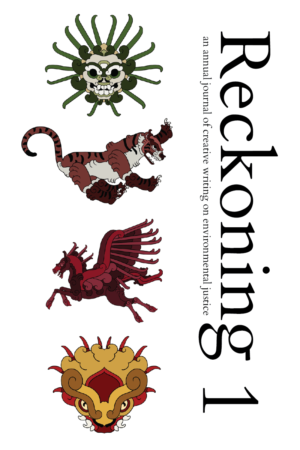 A preliminary, non-final version of the cover for the print edition of Reckoning 1